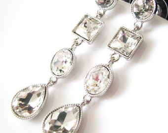 Bridal Wedding Jewelry with Rhinestones and Crystal Wedding Earring Drops Bridesmaids gifts Pageant Jewelry