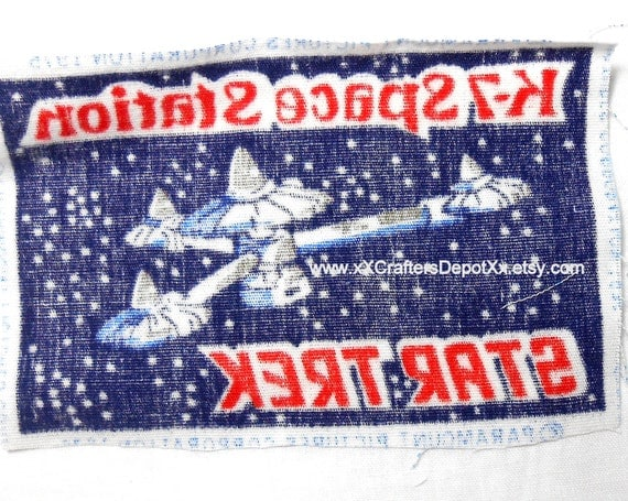 1 piece vintage k 7 space station space ship star trek for Space station fabric