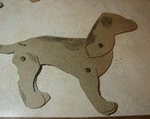 Vintage Quilt Template-Jointed Animal-Dog- Lancaster Co, Pa Dutch  -Sewing Supplies