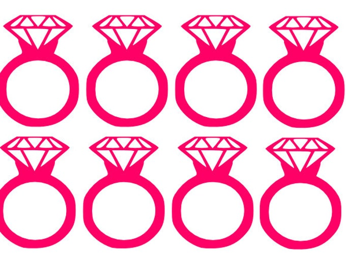 Diamond Ring Decals You Choose the Colors