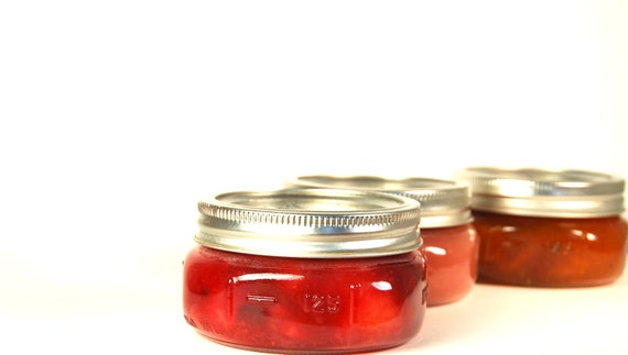 3 Tenors Plum, Cranberry Peach, and Pink Peach Gourmet Jams