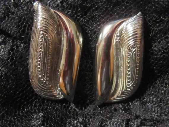 Vintage Silver Pierced Earrings