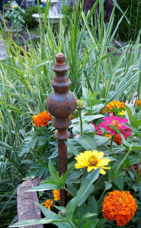 steel garden stake rusty garden decor steel hose by