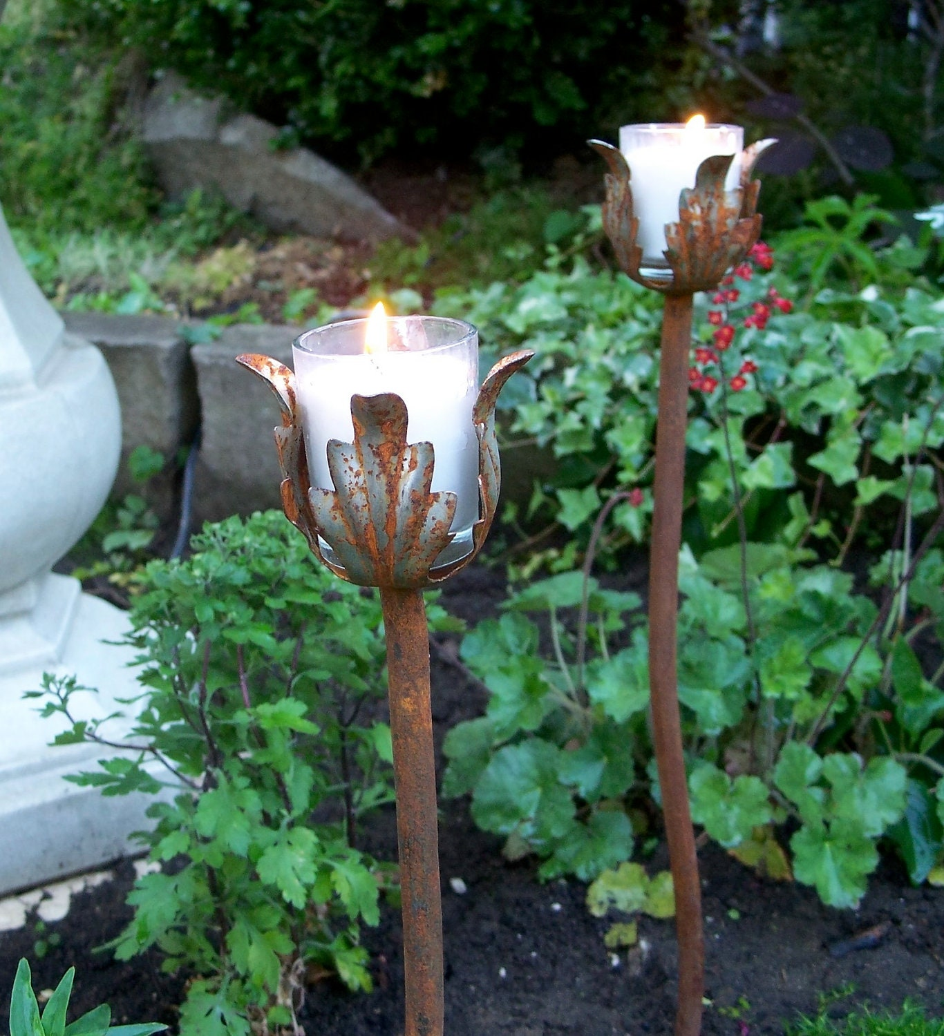 Outside Candle Holders: Outdoor Wedding Decor Steel Candle Holders For Your Garden