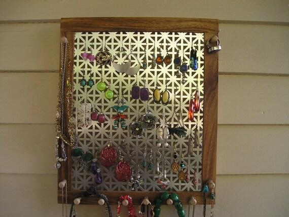 jewelry holder jewelry organizer jewelry storage Jamaican monkeypod earring holder ring holder necklace holder bracelet holder