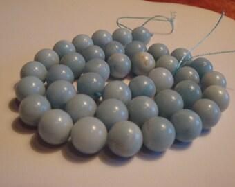 285 Cts Amazonite Round Beads Amazonite Beads Round Beads Blue Round Beads Blue Beads Blue Gemstones Gemstone Beads Round Beads Beads