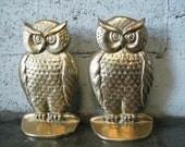 Brass Owl Book Ends