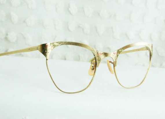 Glasses Frames In Gold : Gallery For > Gold Frames Glasses