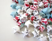 SALE 100 Christmas Peppermint Kiss Origami Stars