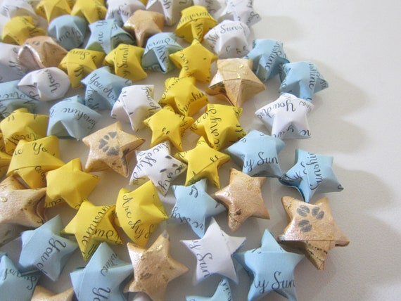 LAST SET 100 Fay's Sunny Skies- You Are My Sunshine Origami Stars