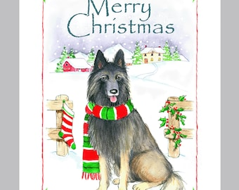 Belgian Tervuren Christmas Cards Box of 16 Cards & Envelopes