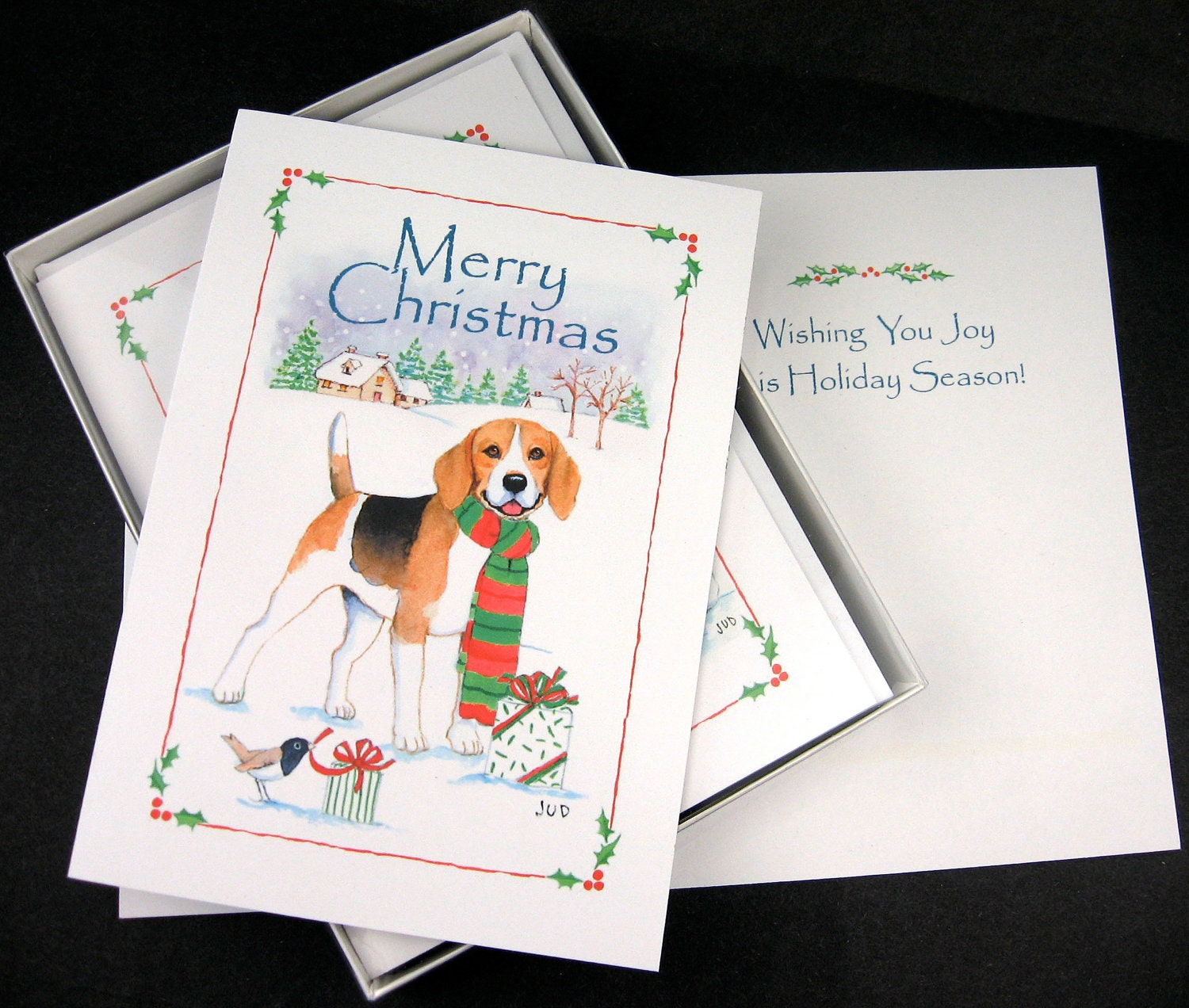 Snap Beagle Christmas Cards Box of 16 Cards and Envelopes photos on ...
