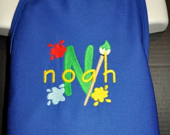 Personalized Childrens Art Apron