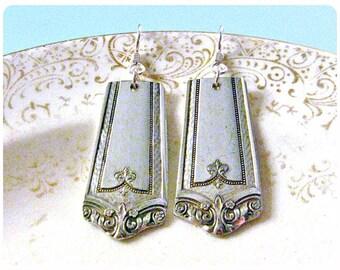Winfield, 1920s Spoon Earrings, Vintage, Upcycled, Bridesmaid Gift, Vintage Wedding