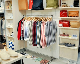 Galvanized Steel Garment/Clothing Rack