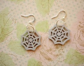 Spider Web Earrings, Spider Web Jewelry, Spider, Halloween Earring