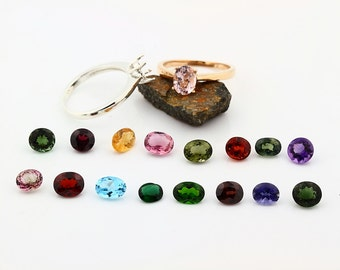 Custom Natural gemstone ring, white, yellow, rose gold, topaz morganite garnet tourmaline citrine Amethyst ETC---Special