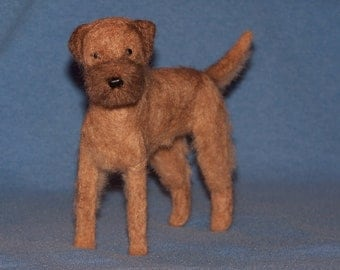 Border Terrier needle felted dog example custom made to order