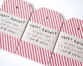 Red & White Gift Tags - Set of 10