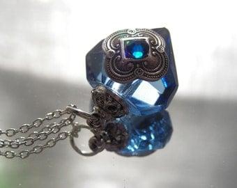 Blue Diamond Essential Oil / Perfume Bottle Necklace