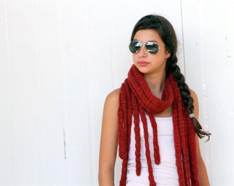 Rust Scarf Loop scarf Neck Warmer for Women and Girls