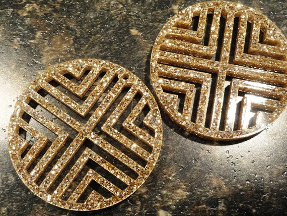 Square-Cut Circle Earrings
