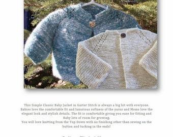 Top Down Garter Stitch Baby Jacket Pattern Download