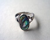 Vintage Abalone Pinky or Child's Ring