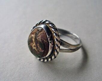 Vintage Mottled Stone Ring