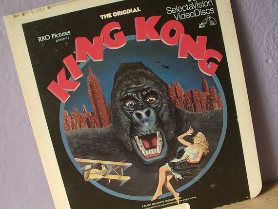 Vintage King Kong RCA Selectavision VideoDisc, movie collectible, man cave decor, home theater decor, 1930's movie