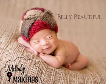 Entrelac Beanie Knitting Pattern - All Sizes From Newborn through Adult Male Included - PDF Sale - Instant Digital Download