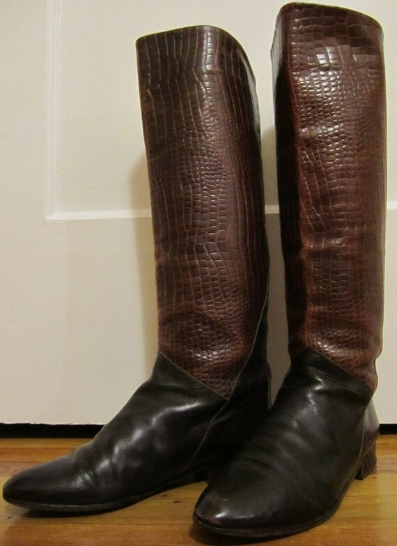 Charles David Roberta Riding Boots. Dark Rich Brown. Size 8.5 B. Made in Italy