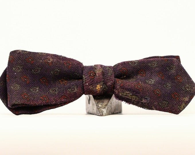 Black Ormond Bow Tie Vintage 7E