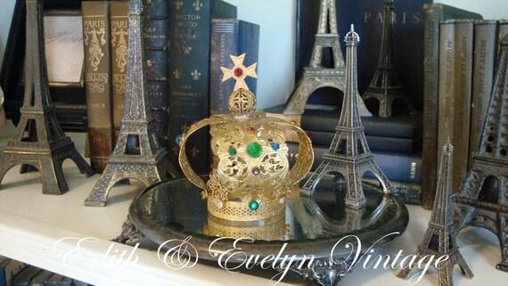 Vintage Santos Crown, Statue Crown, Jeweled