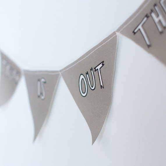 X-files cotton bunting - the truth is out there banner