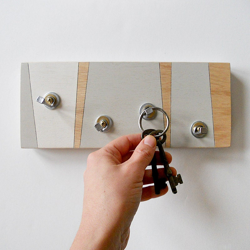 Wall decor fog key holder geometric key rack modern by pigandfish - Key racks for wall ...
