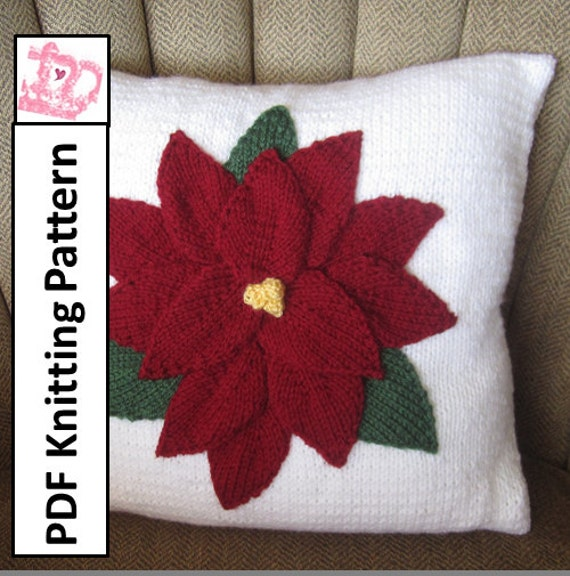 PDF KNITTING PATTERN Christmas pillow knitting pattern 16\