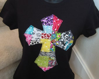 Patchwork Cross Shirt by Two Girls Who Make Crosses