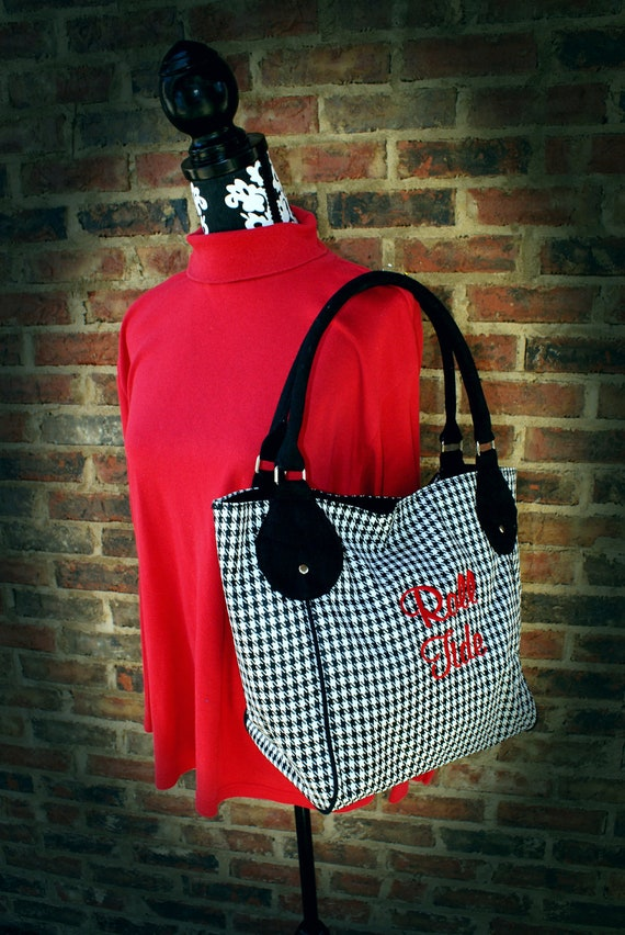 Houndstooth Purse Personalized