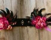 Clearance sale-Headdress //Tribal Belly Dance, Bellydance,  Black, Pink, Burgundy, Performance