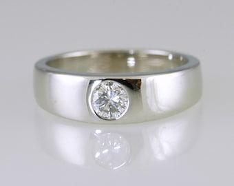Modern Flush Set Diamond Ring