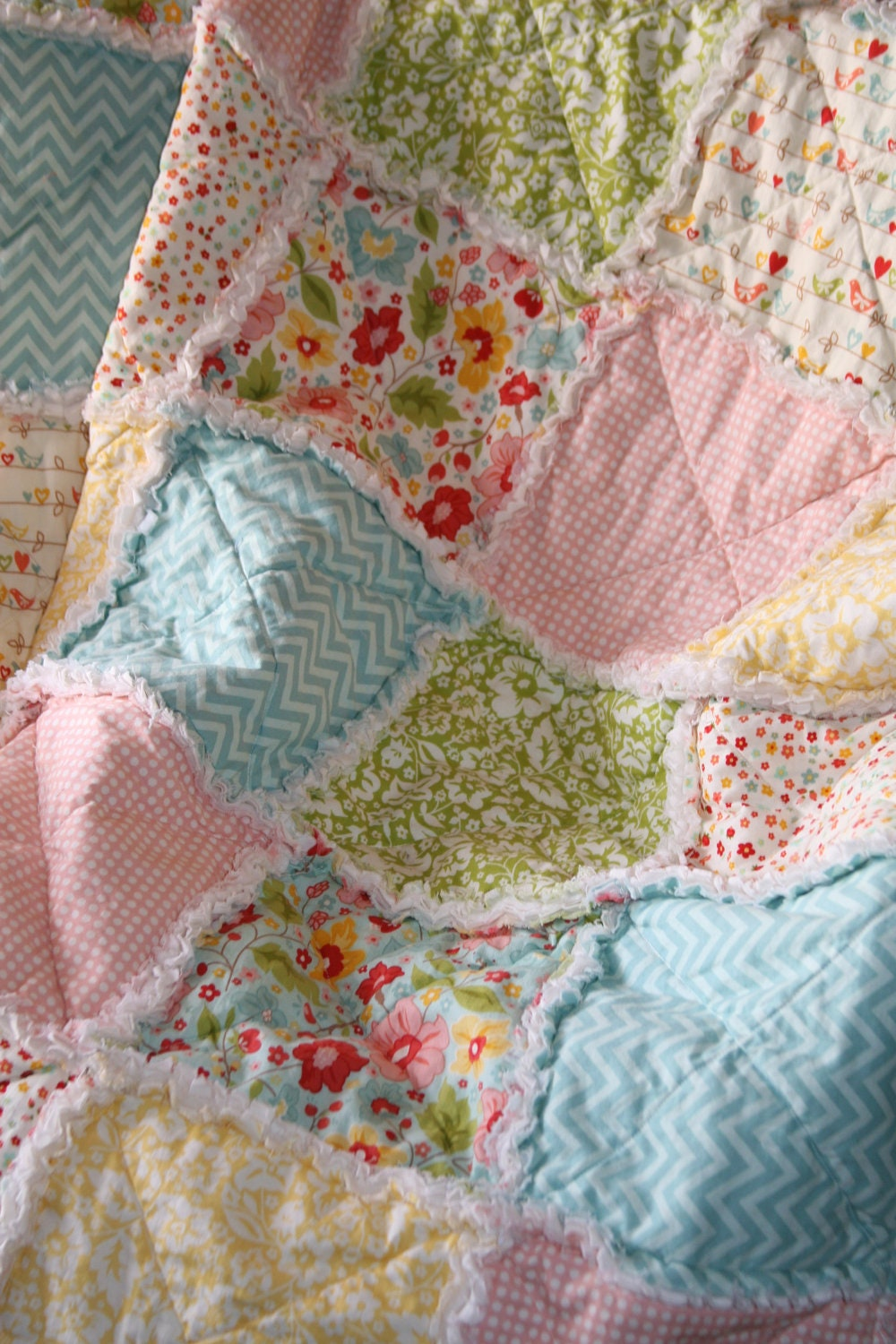 Crib Rag Quilt Baby Girl Crib Bedding Zoe Pearn The Sweetest