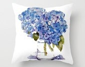 Indoor Throw Pillow Cover, Hydrangea Pillow cover, Cape Cod Hydrangeas