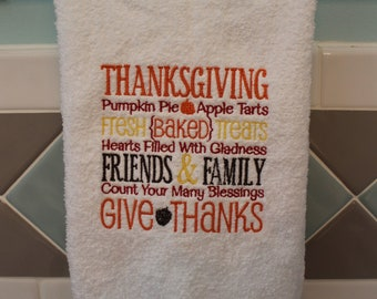Thanksgiving Hand Towel