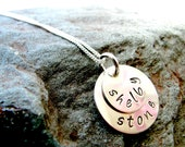 Sterling Silver Handstamped Double Mother's Necklace