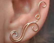 Earring Pin - Swirling Victorian - 14k Gold Filled, Sterling Silver, or Mixed Metals