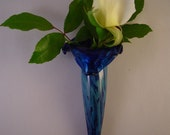 Handblown Glass Wall Vase  //////Free Shipping in the U.S.//////