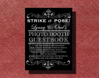 Wedding Photo Booth Guestbook Sign