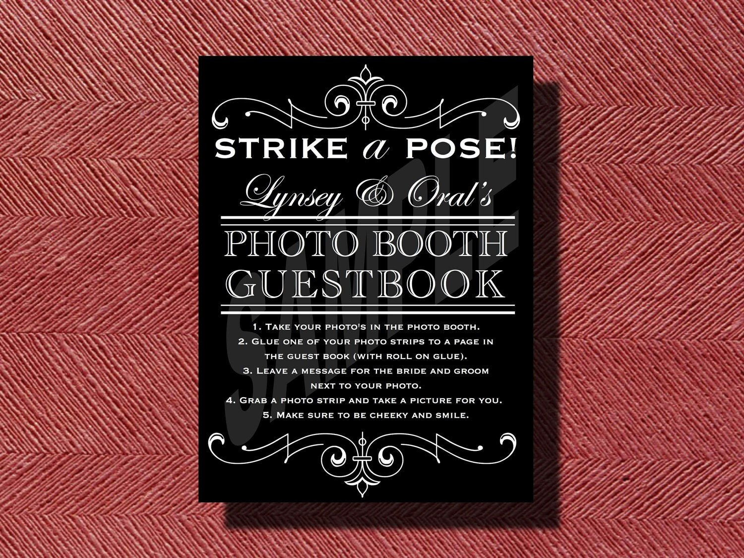 Wedding photo booth guestbook sign for Photo wedding guest book
