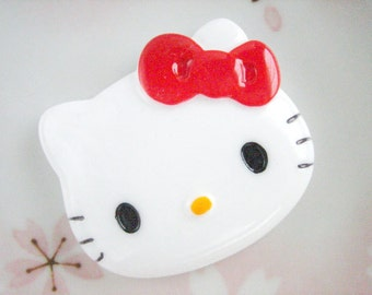 1pc - LL Kitty Red Bow Decoden Cabochon (40x47mm) HK10001